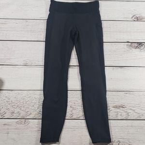 Athleta girl solid black athletic leggings M 8 10